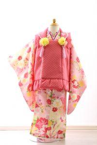 着物ID=CG002 3歳女の子の七五三レンタル専用のお着物です。