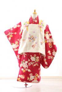 着物ID=CG004 3歳女の子の七五三レンタル専用のお着物です。