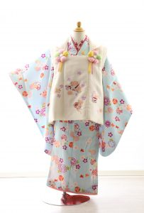 着物ID=CG005 3歳女の子の七五三レンタル専用のお着物です。