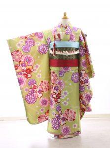 着物ID=CG007 7歳女の子の七五三レンタル専用のお着物です。